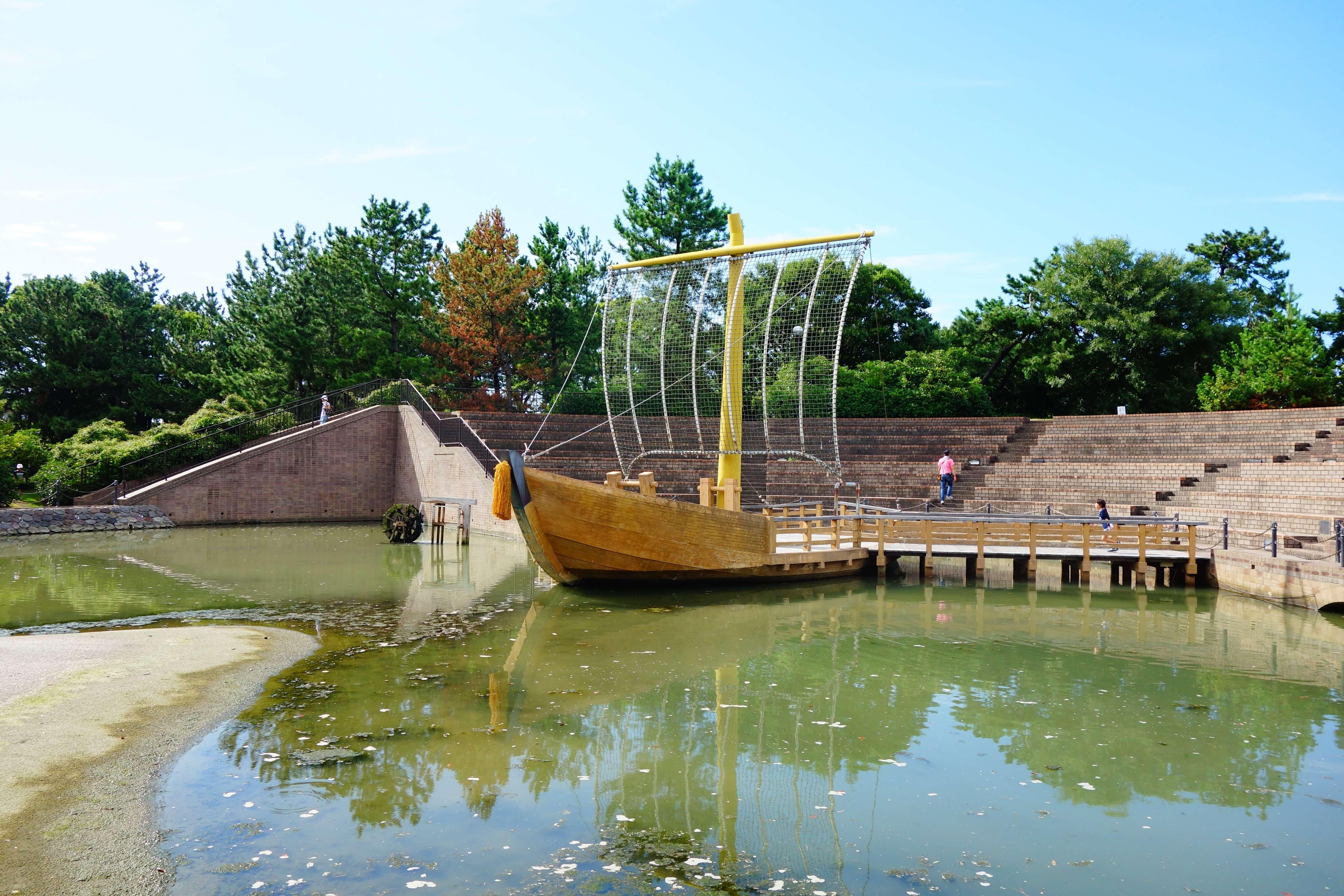 大野お台場公園|金沢市にある船がシンボルの金沢港近くの公園