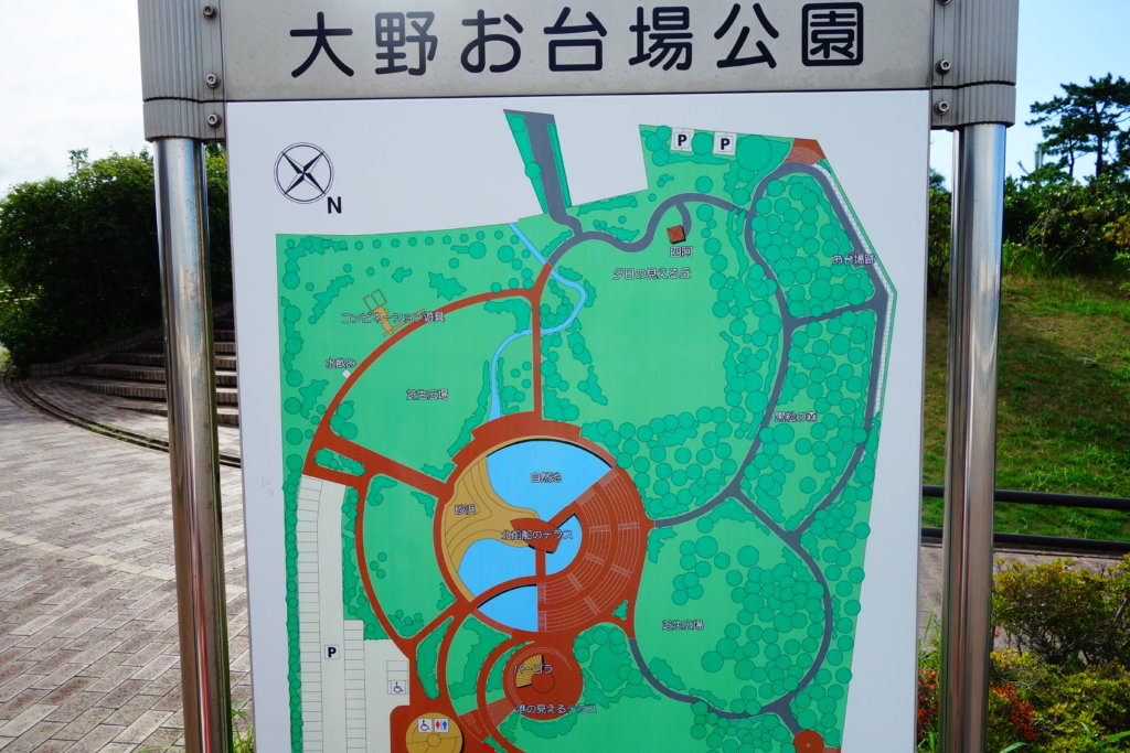 大野お台場公園 見取り図