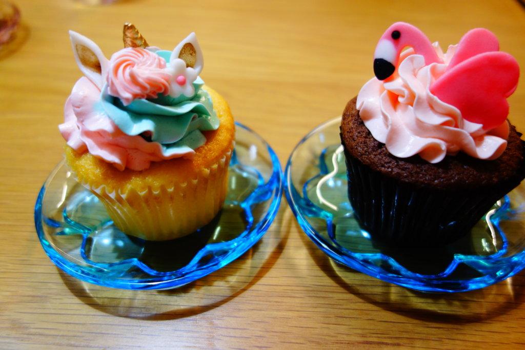 ロンドンカップケーキ ユニコーン フラミンゴ
