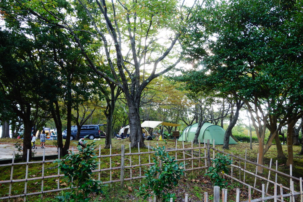 見附島 キャンプ
