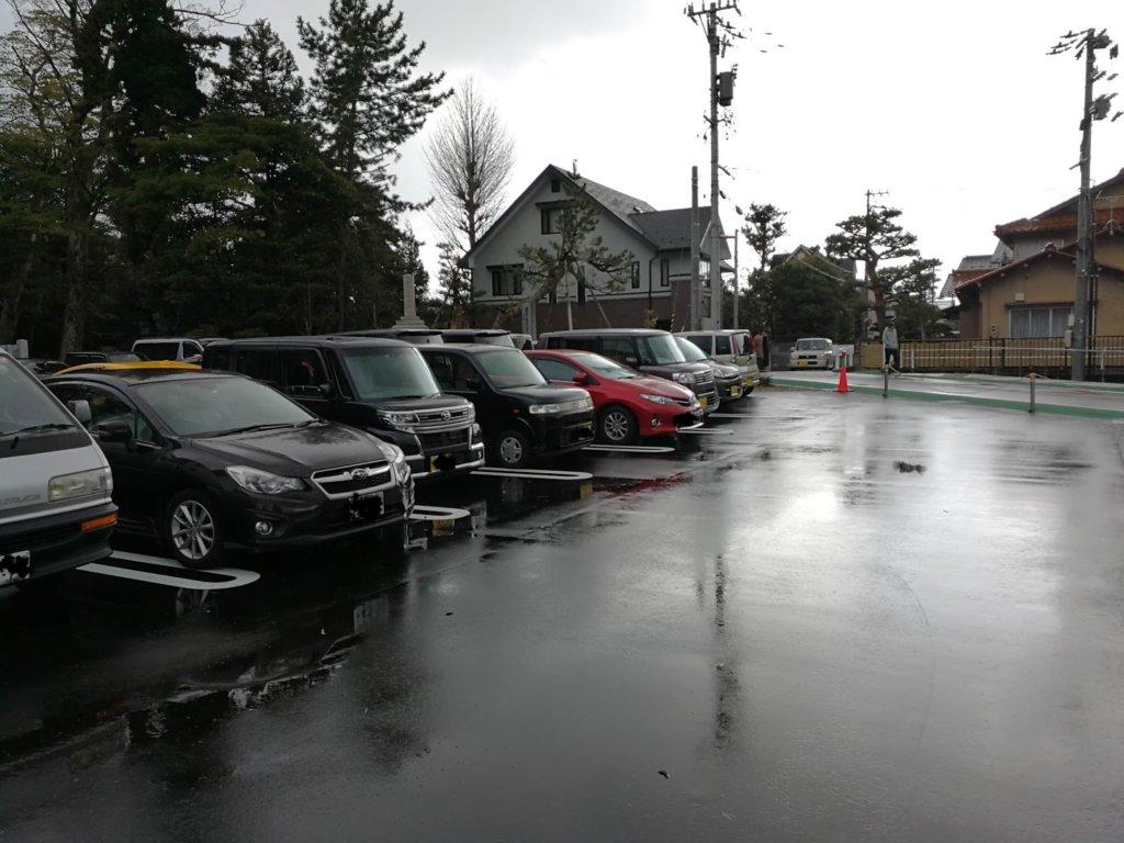 カミーノの駐車場