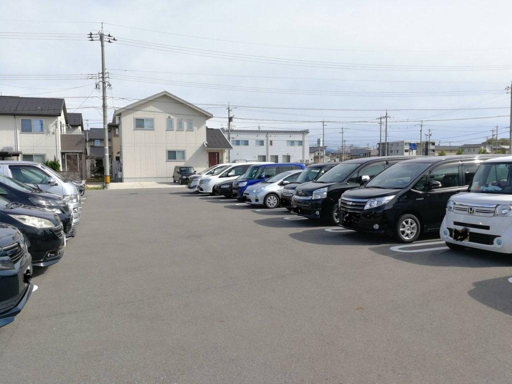 つばきの郷公園の駐車場