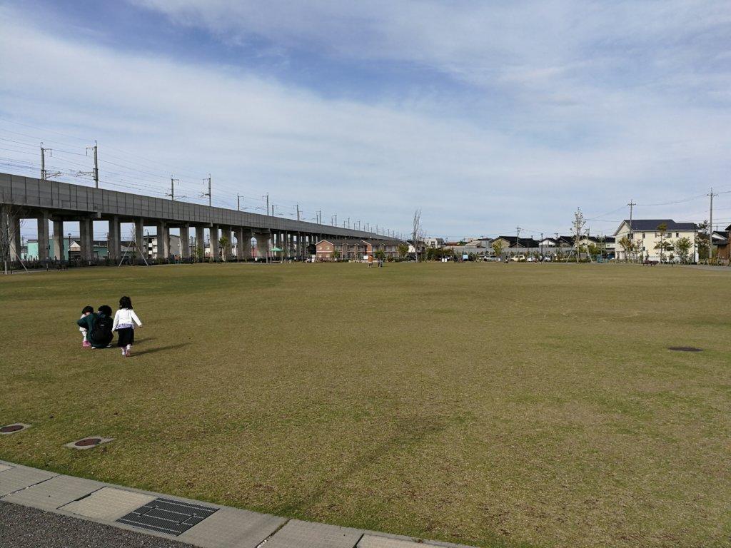 つばきの郷公園の広場