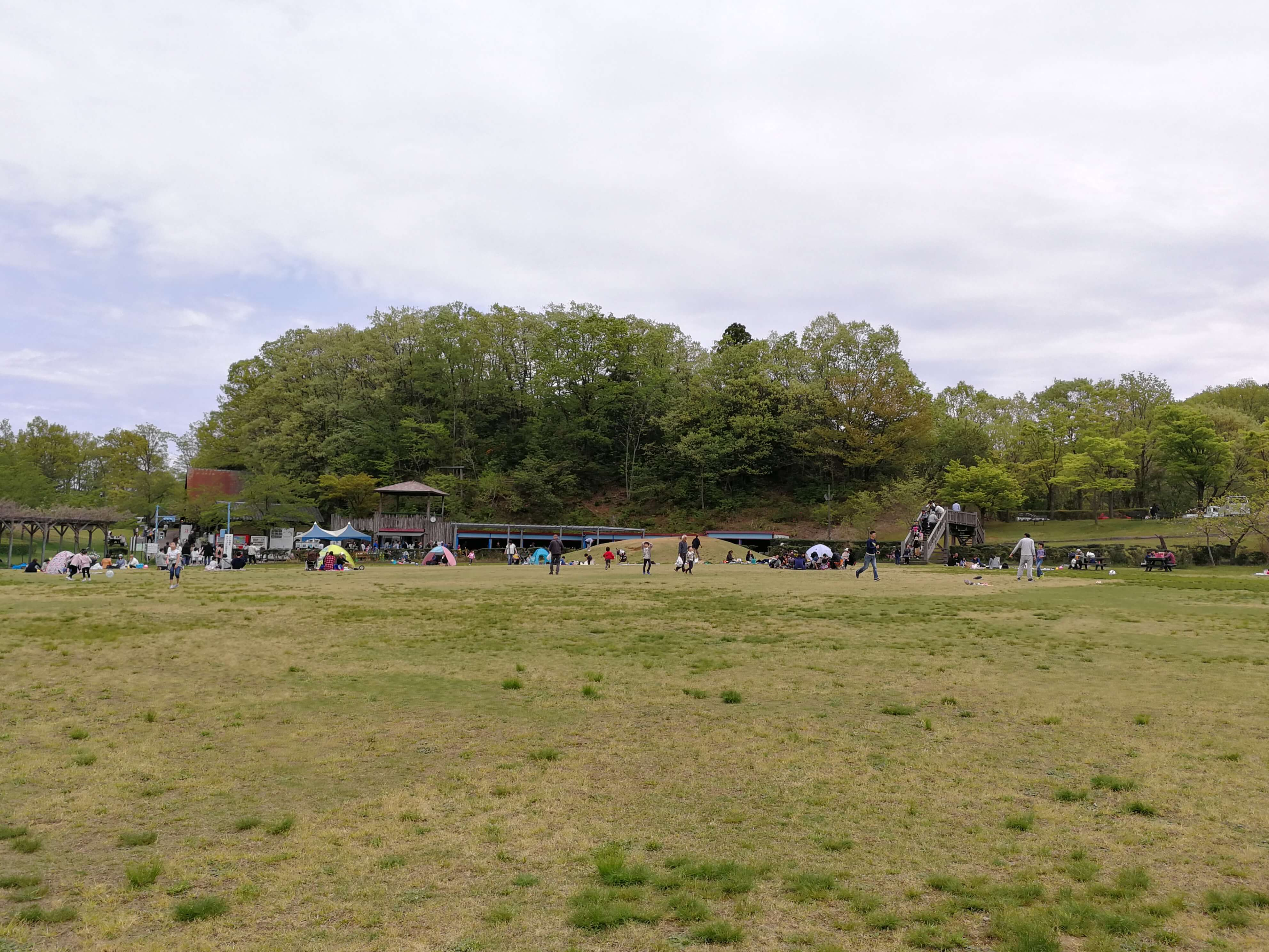 辰口丘陵公園|能美市にあるいしかわ動物園の横でピクニックするならココ