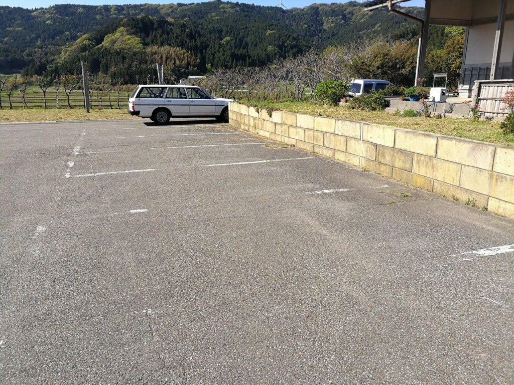 そば禅の駐車場
