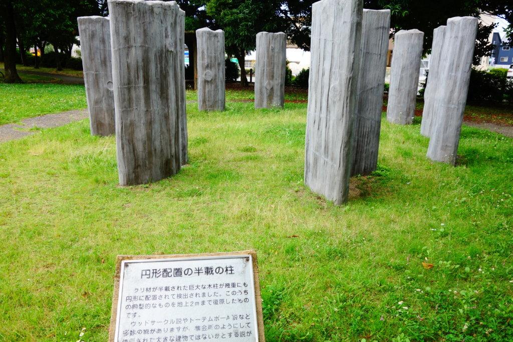 チカモリ遺跡の柱