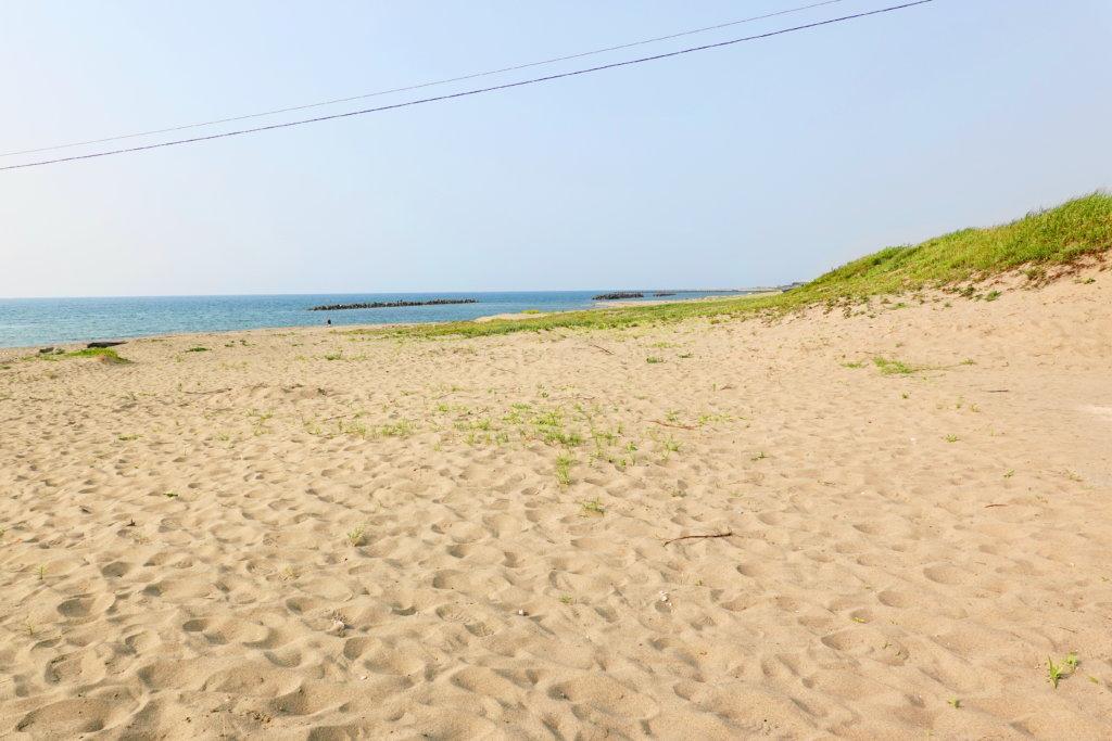 小舞子海水浴場の砂浜