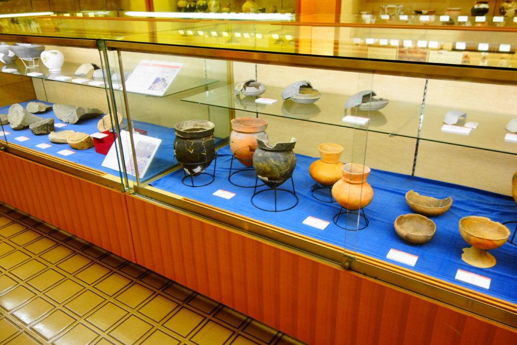 金沢市埋蔵文化財収蔵庫の出土品