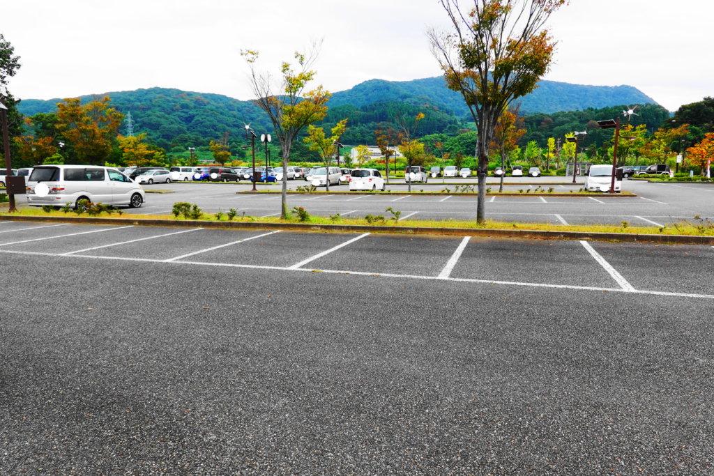 戸室スポーツ広場の駐車場