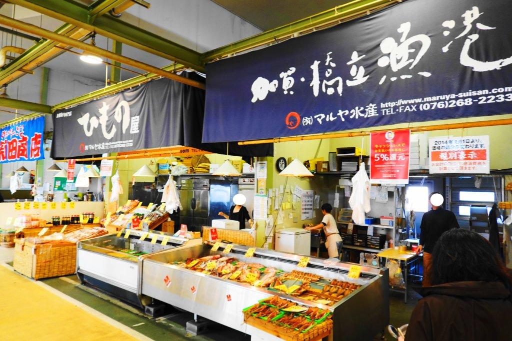 金沢港いきいき魚市の様子