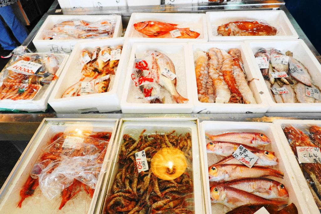 金沢港いきいき魚市のお魚