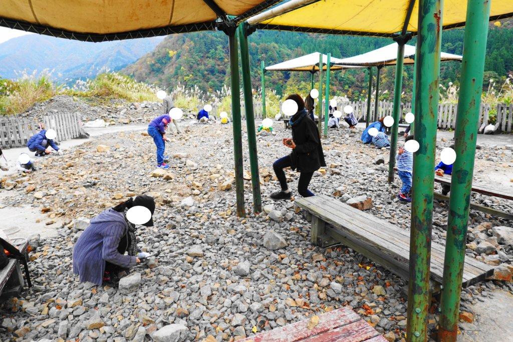 白山恐竜パーク白峰の化石採掘