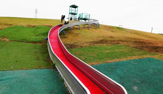 中条公園|8号線すぐ横!津幡町にある丘の上の長いすべり台の公園