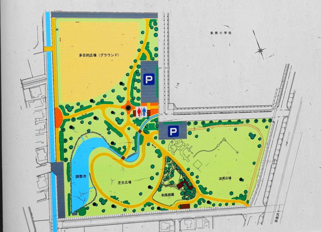 中条公園の見取り図
