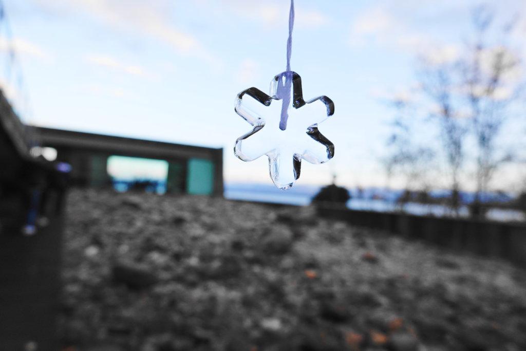 氷のペンダントの手作り